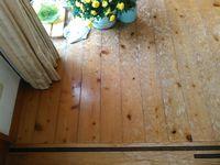 ヒノキ無垢材の床をリフォーム