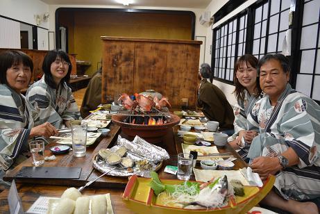 東伊豆 星ホテル お客様の夕食風景
