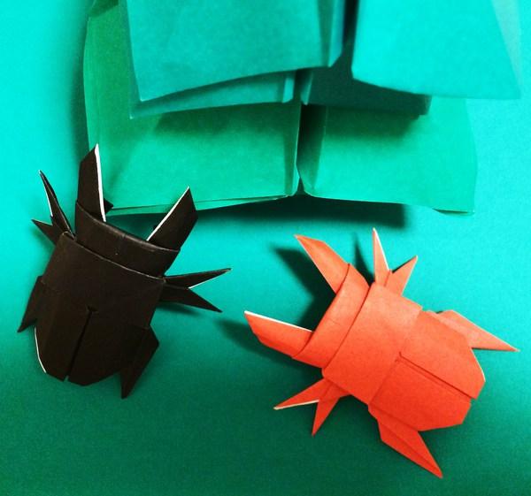 ハート 折り紙 クワガタ 折り紙 簡単 : origami.i-ra.jp
