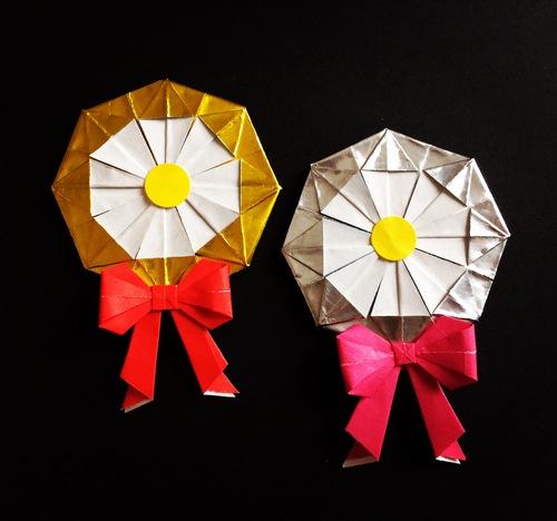 クリスマス 折り紙:メダル 折り紙-origami.i-ra.jp