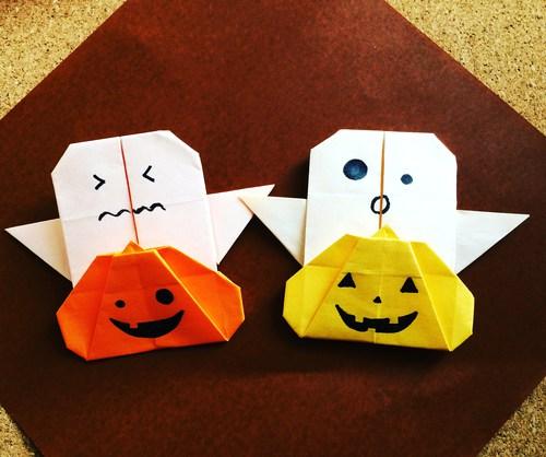 クリスマス 折り紙 折り紙 ハロウィン かぼちゃ : origami.i-ra.jp