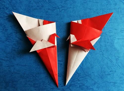 クリスマス 折り紙 折り紙 入れ物 : origami.i-ra.jp