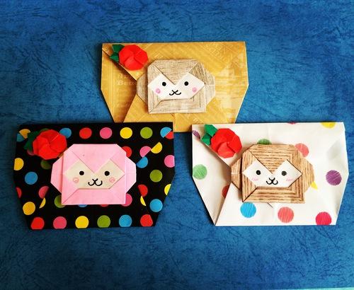 クリスマス 折り紙 ぽち袋 折り紙 : origami.i-ra.jp