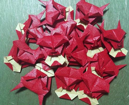クリスマス 折り紙:折り紙 鬼-origami.i-ra.jp