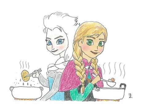#アゲとゆでの女王#アナと雪の女王#東平屋スタジオジャパン